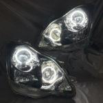 オーダー加工 18系 アスリート インナーブラック塗装&CCFLイカリング仕様 純正加工品 ドレスアップ ヘッドライト クラウン