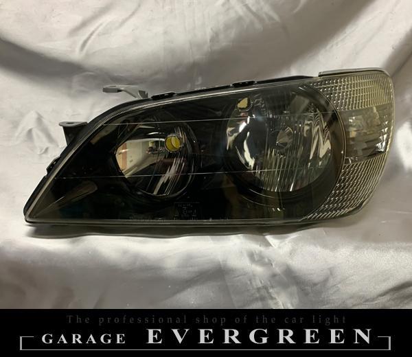 車検対応】アルテッツァ 前期 SXE10/GXE10 インナーブラック塗装&レンズコーティング加工済み 純正加工品 ドレスアップ ヘッドライト