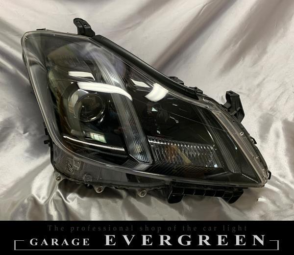 車検対応 200 クラウン アスリート/ロイヤルサルーン 前期/後期 純正加工品 ドレスアップ ヘッドライト インナーブラック塗装&リフレクタークロームメッキ塗装 仕様