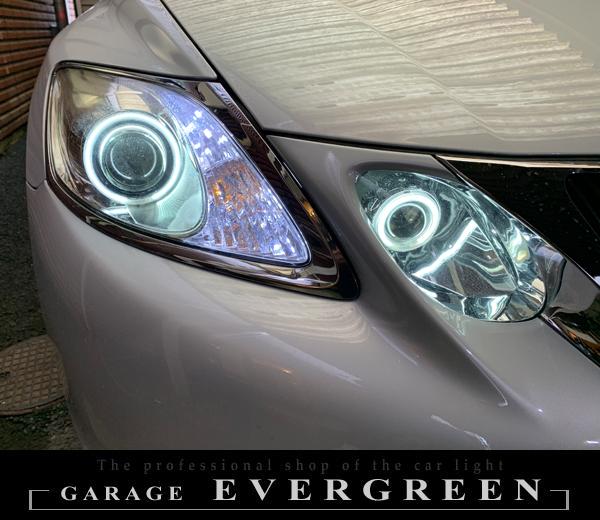 ワンオフ加工 ヘッドライト 取付け レクサス 19系 GS ドレスアップヘッドライト 交換