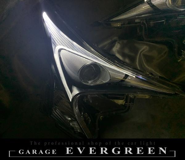 ZVW50 プリウス 前期 純正LEDポジション白打ち替え&サイドマーカーブラック塗装 仕様 純正加工 ドレスアップ ヘッドライト