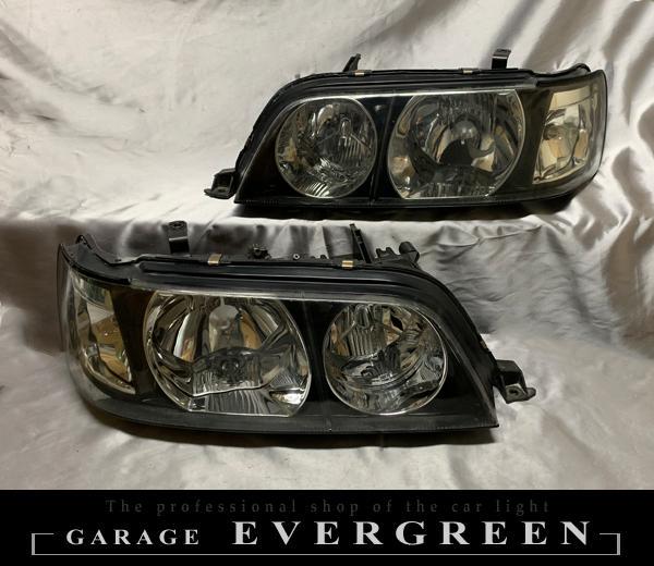 ワンオフ加工 Y33 シーマ クリスタル加工 ドレスアップ ヘッドライト 純正加工品